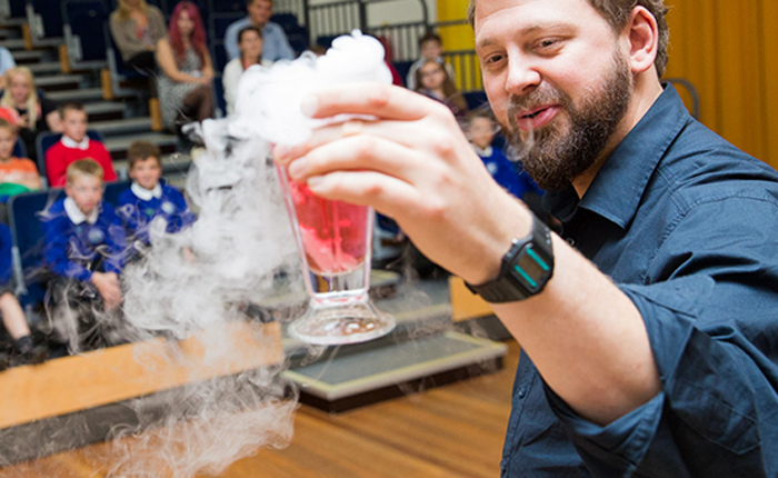Interactive Presentation with Dry Ice